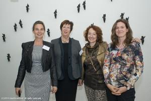 Annemarie Jorritsma verzorgde de Galjaardlezing 2014, rechts haar woordvoerder Mirjam Boon